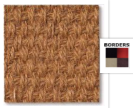 coir natural stair carpet runner close up photo