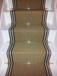 How To Measure Stair Carpet Runner With Sisal Gold Striped Border