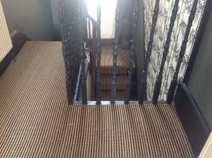 stair carpet runner fitted in top landing