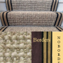 STAIR RUNNER CARPET WOOL HEMP