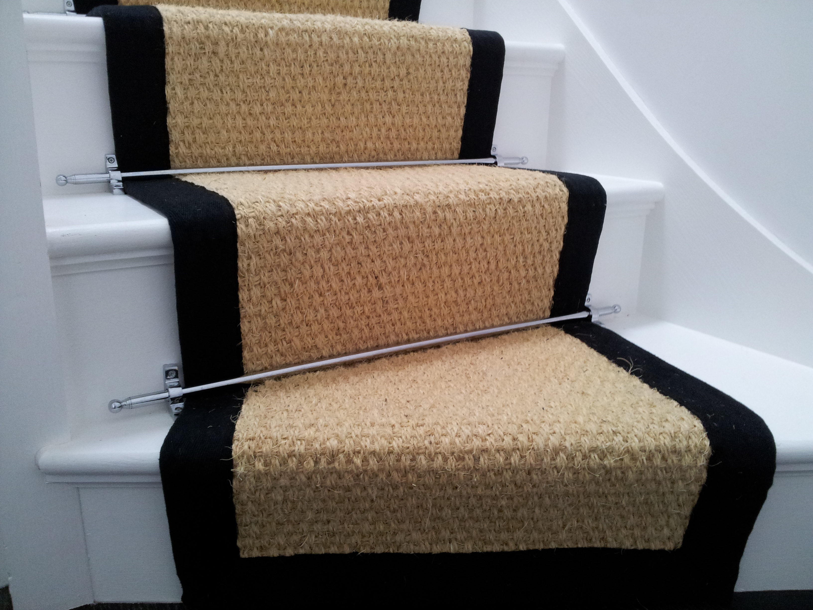 Stair Runner Coir Bleached 7 5mx55cm Wholesale Carpets