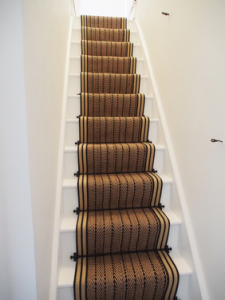 STAIR RUNNER REVIEWS-HERRINGBONE TWILL WITH STRIPED BORDER