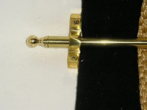 Stair rods for runner real brass