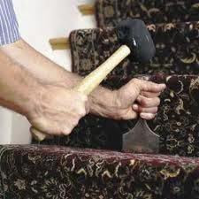 how to fit a stair runner on to gripper with a bolster