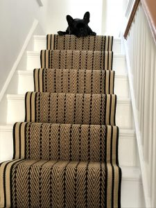 Herringbone twill striped border