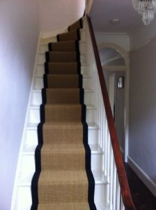 carpet runners already fitted in a staircase