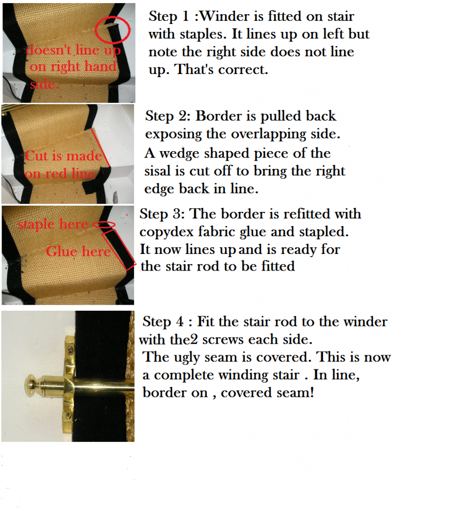 Winder fitting step by step