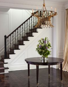 sisal chocolate makes a rich finish to these painted stairs