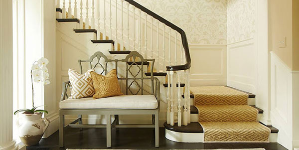 sisal stair runner in stair runner designs