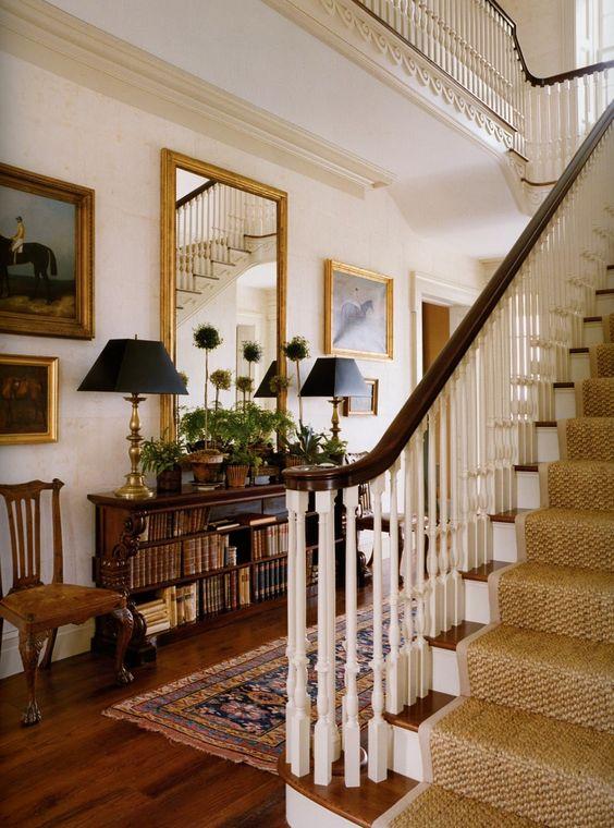 Sisal carpet stair runner