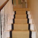 Coir bleached stair runner .