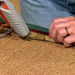 Sticking your rug border