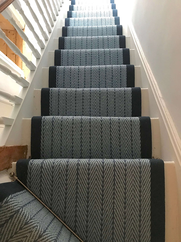 Herringbone Blue 7 5m X 65cm Wholesale Carpets