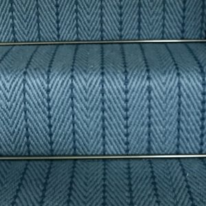 Herringbone blue close up. ns