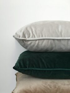 Three pillows showing rule of three